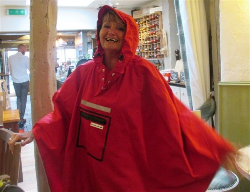 A Poncho...or a postbox?