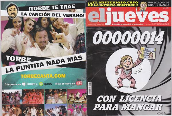"""""""La Puntita Nada Mas"""" en la contraportada de la revista El Jueves!"""
