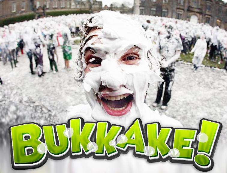 Bukkake con una de 18!!!