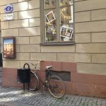 A bike on Lilla Nygatan Old Town Stockholm