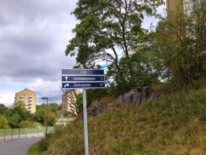 Cycle Path Road Signs Stockholm