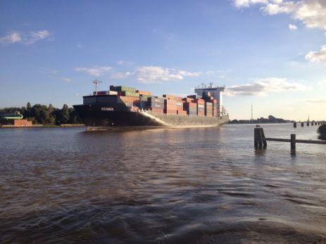 Ship on Kiel Canal