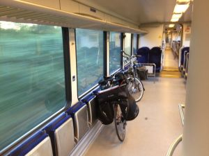 Totta's bike on a Arriva train from Leer Germany