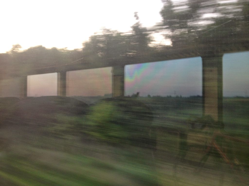 refelextion from a train