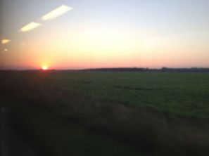 The sun going down over Northen Netherlands
