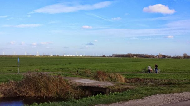 View of fields near Spaarndam