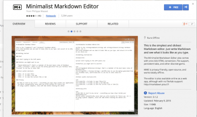 Minimalist Markdown Editor - Chrome Web Store