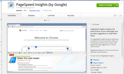 PageSpeed Insights  by Google  - Chrome Web Store