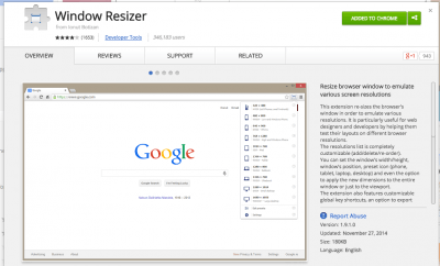 Window Resizer - Chrome Web Store