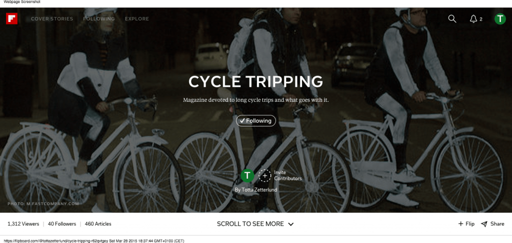 Cycle Tripping on Flipboard