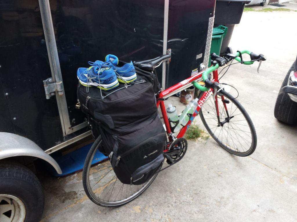 My bike ready to go