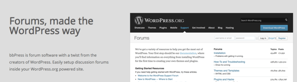 bbPress forum wordpress