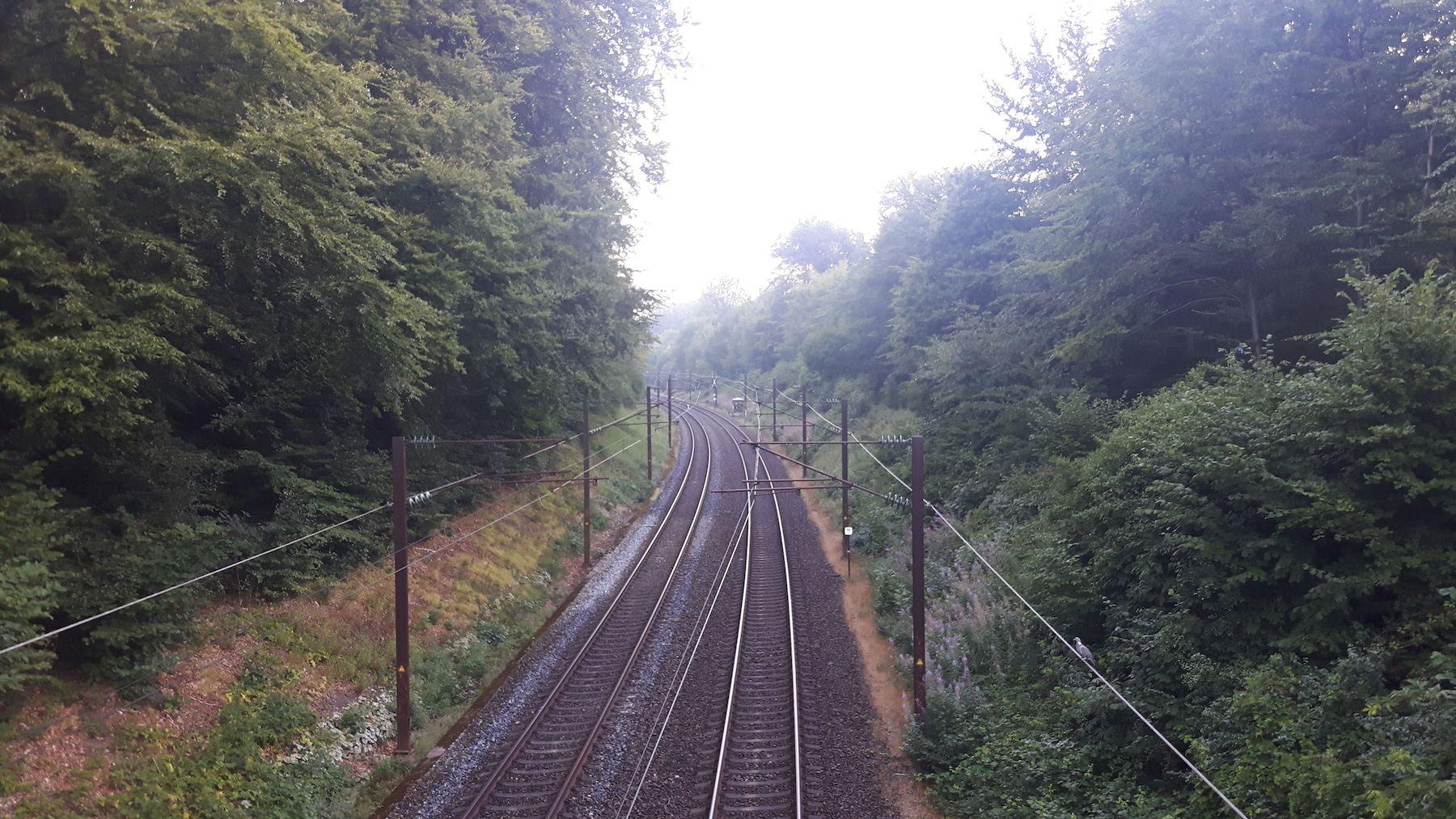 Crossing over railroad Denmark