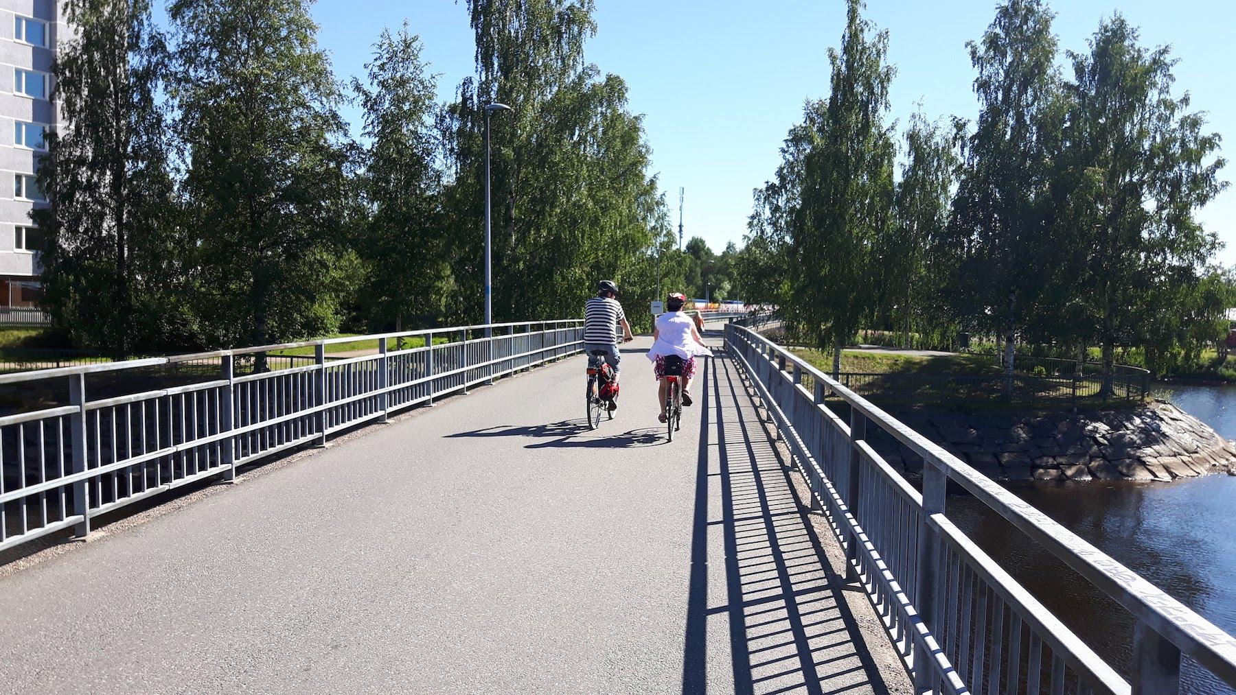 Bike Path Bridge Oulu Finland