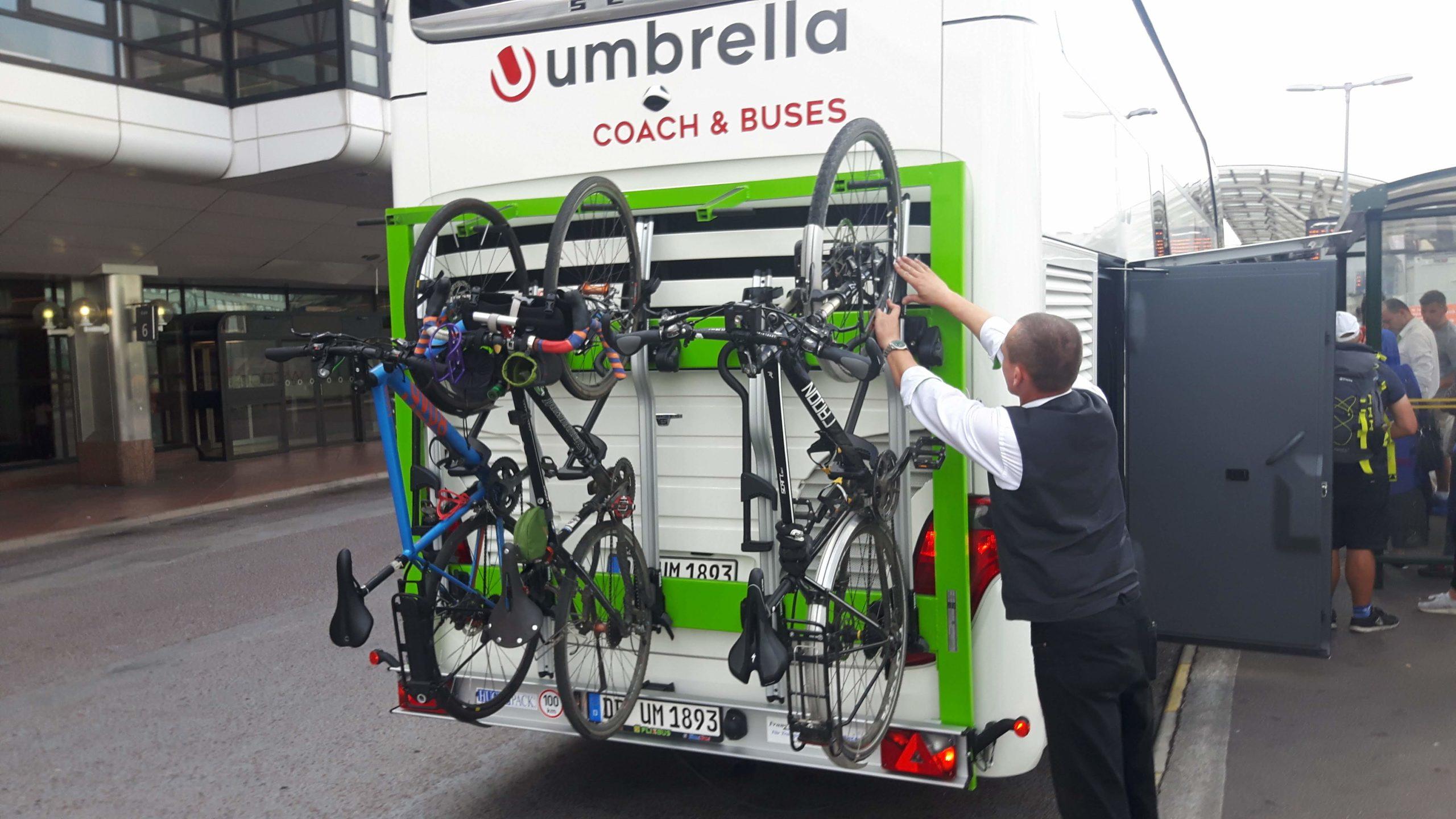 My Bike loaded on Bus Stockholm Sweden