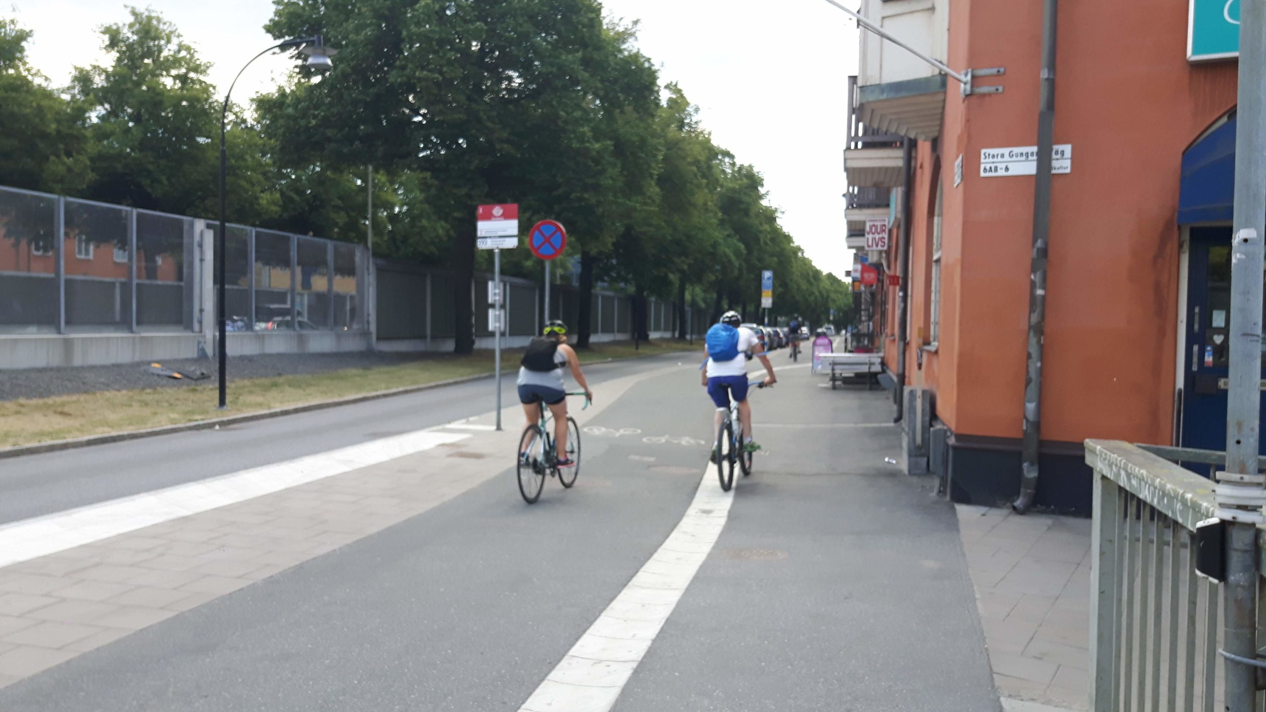 Cycling round Stockholm