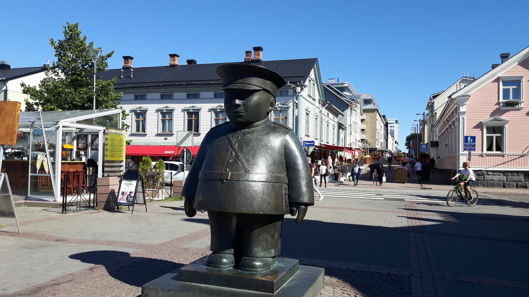 Statue in Oulu Finland
