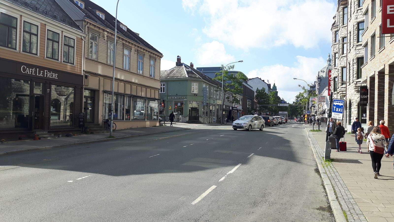 Street in Trondheim