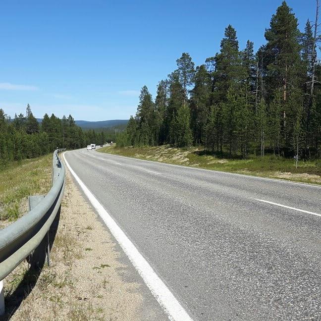 A hill before Saariselkä Finland