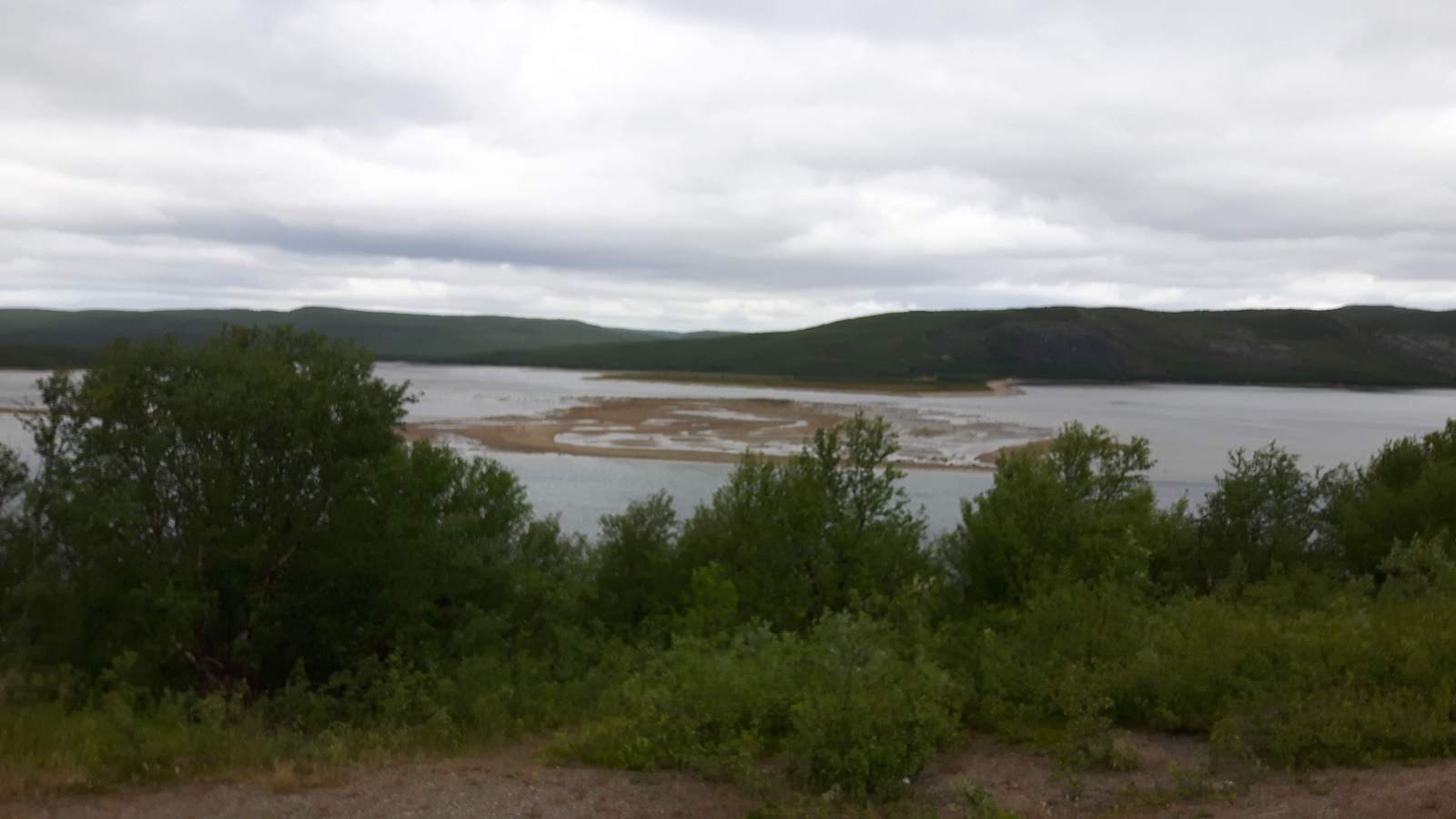 On the road from Kirkenes Norway