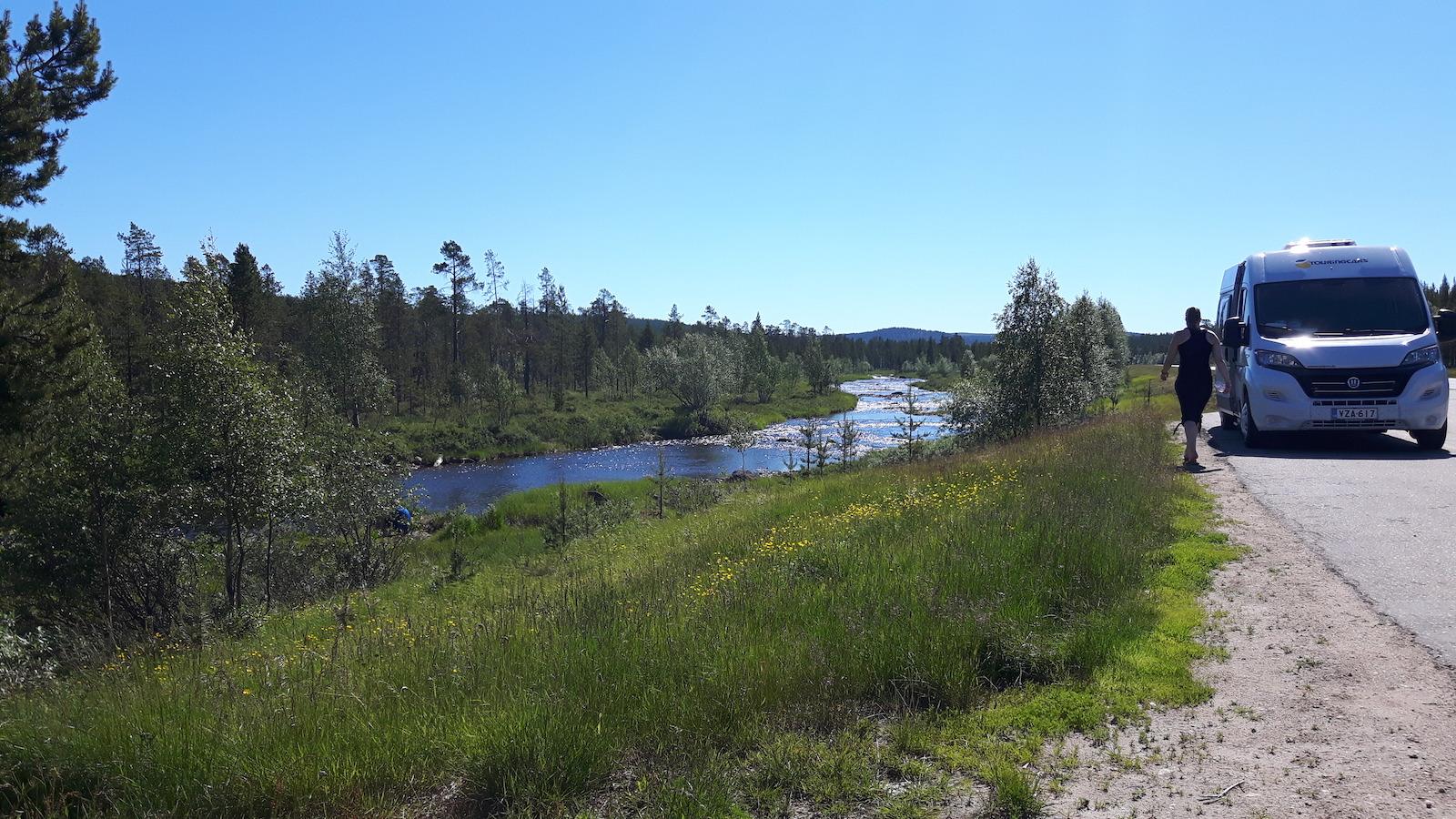 Nice stream near Inari Finland