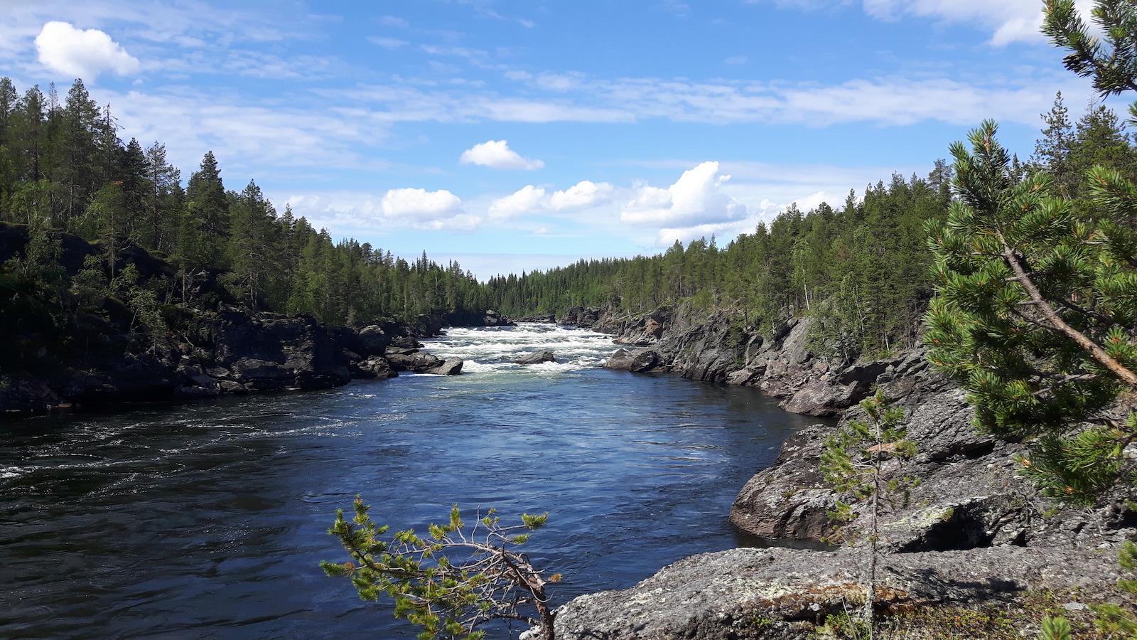 Kalix Alven near Masugnsbyn Sweden