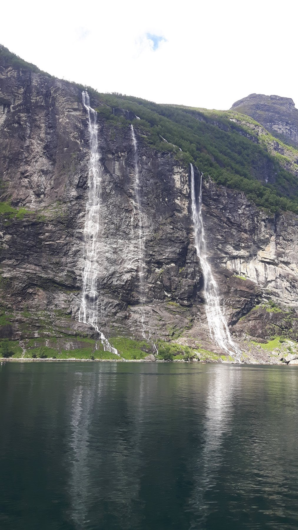 The Three Sisters waterfall Geiranger Fjord Norway