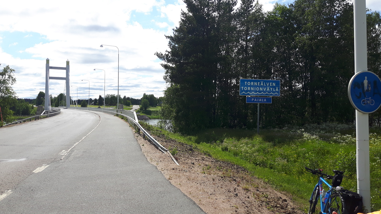 Approaching Pajala Sweden