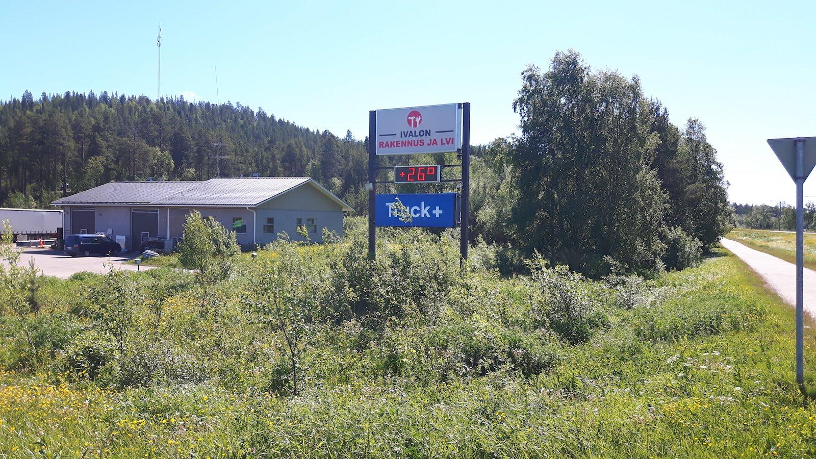 Warm weather near Ivalo Finland
