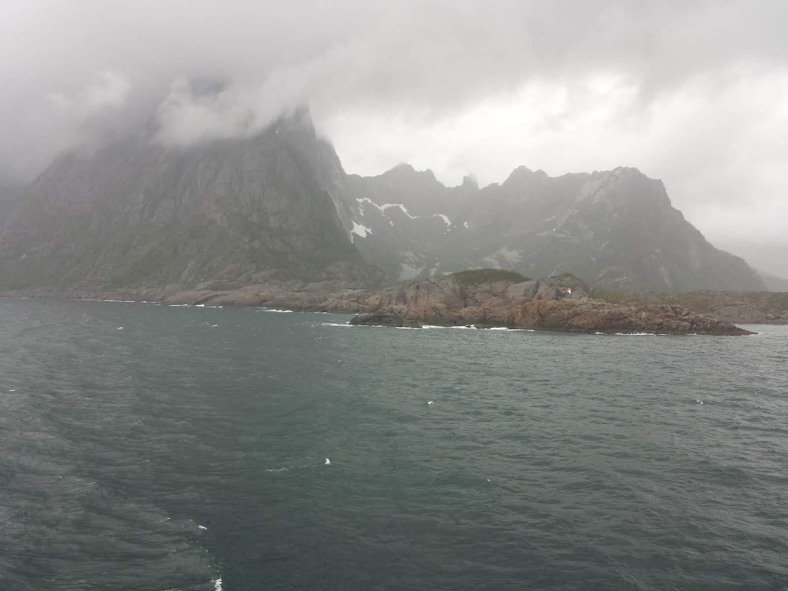 Lofoten sailing towards Tromso Cloudy