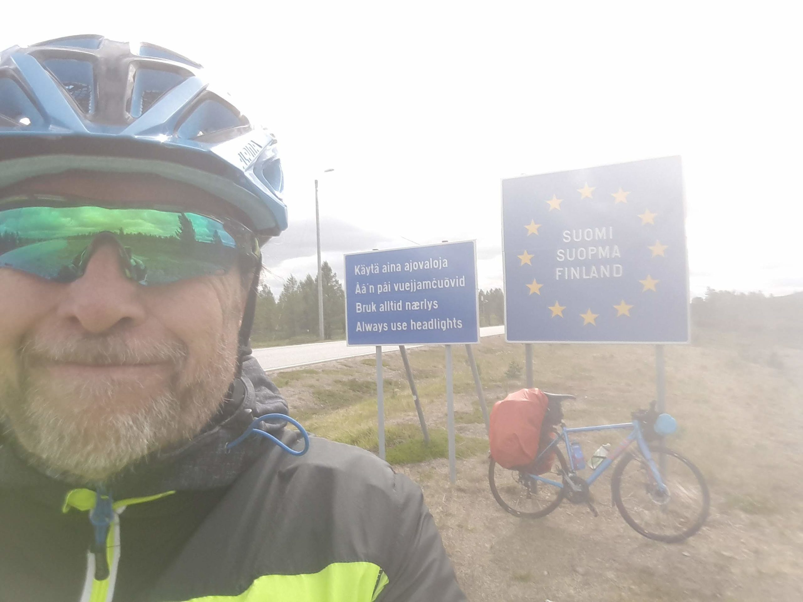 Crossing border into Finland from Norway