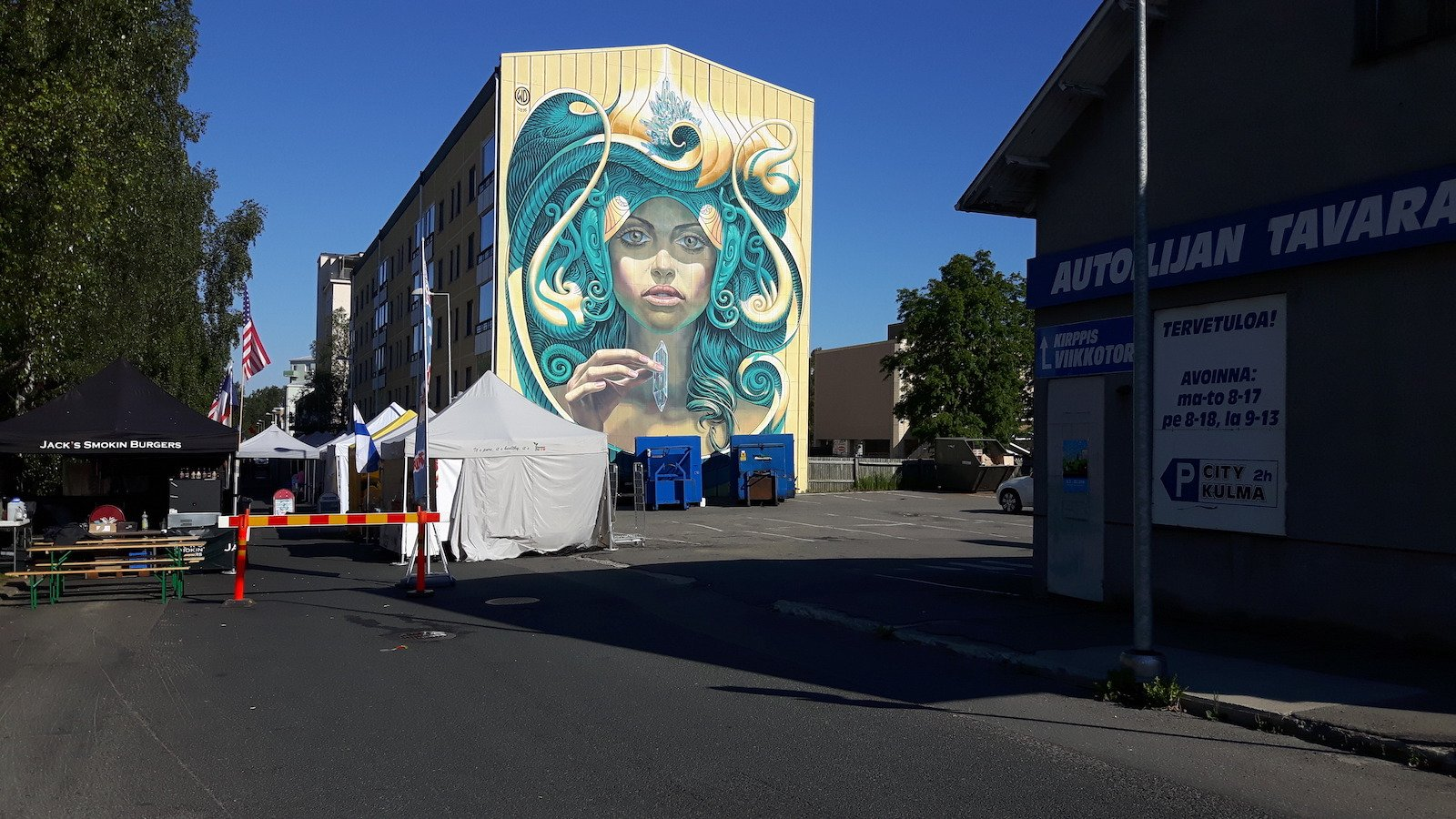 Kemi Finland Painting on the wall