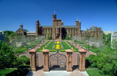 Located directly above the National Museum of African Art, S. Dillon Ripley Center, and Arthur M.Sackler Gallery, the 4.2-acre Enid A. Haupt Garden is actually a rooftop garden. It comprises three separate gardens, each reflecting the cultural influences celebrated in the adjacent architecture and the museums below. (Photo by Dane Penland)