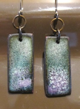 Rectangle Earrings Gray & Purple