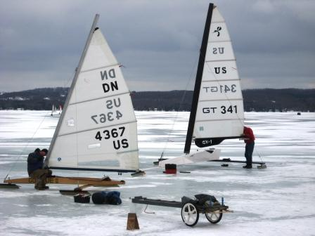 Ice boats onTorch