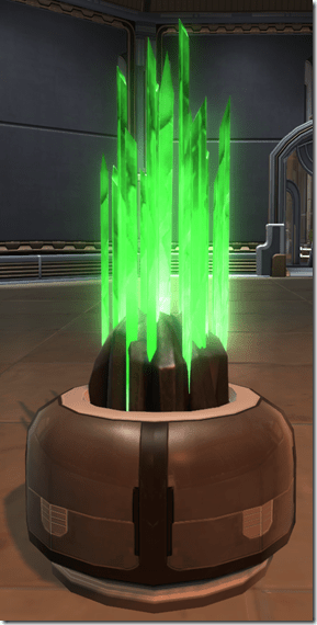 Lucent Green Crystal Formation
