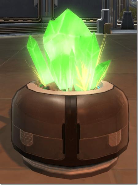 Polychromatic Green Crystal Formation