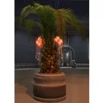 Potted Tree: Rakata Palm