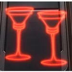 Holo Sign: Champagne Glasses