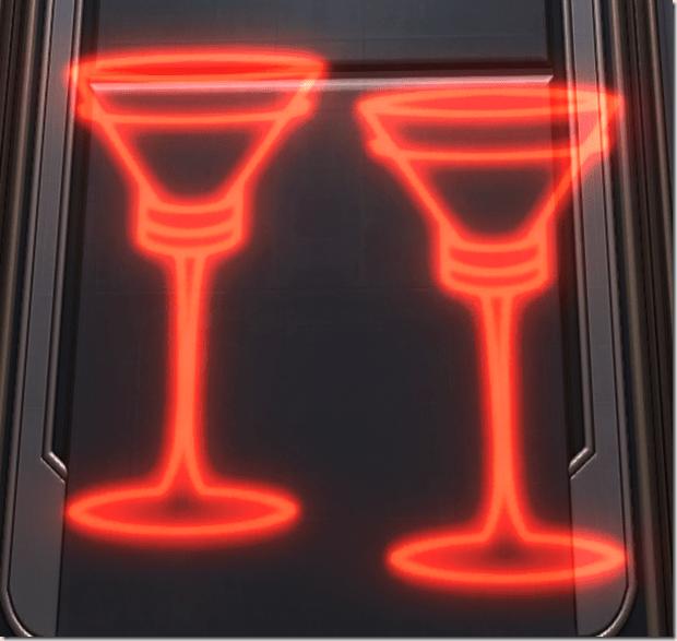 Holo Sign Champagne Glasses