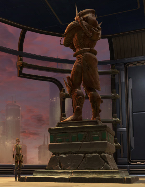 Commemorative Statue of Darth Marr 2