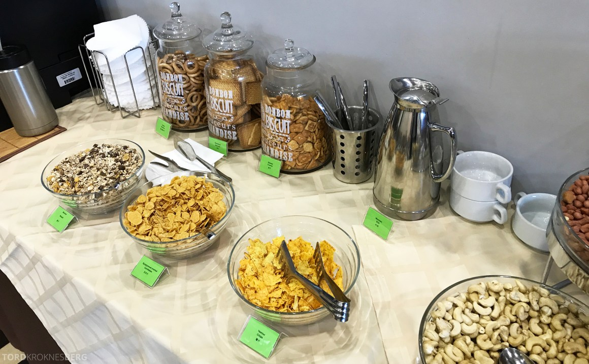 Airport Business Lounge Moskva snacks