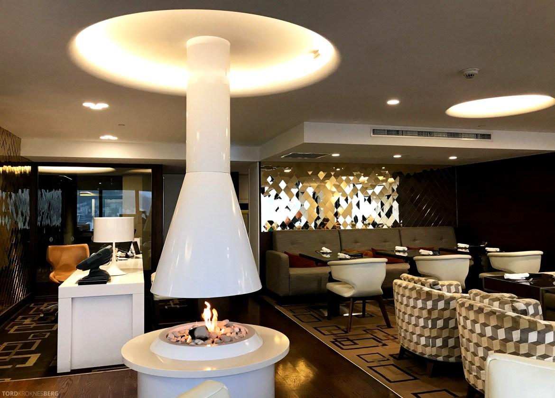 InterContinental Wellington Club Lounge peis