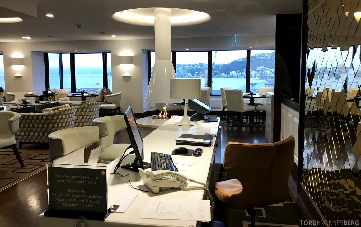 InterContinental Wellington Club Lounge resepsjon