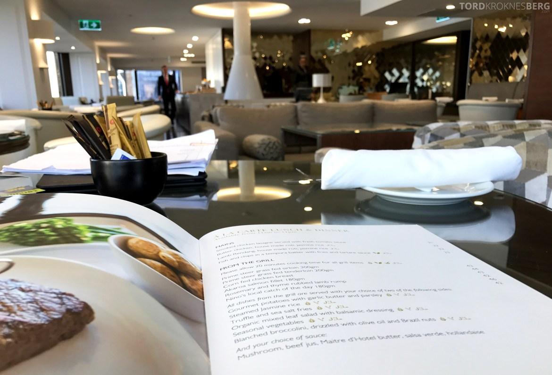 InterContinental Wellington Club Lounge room service