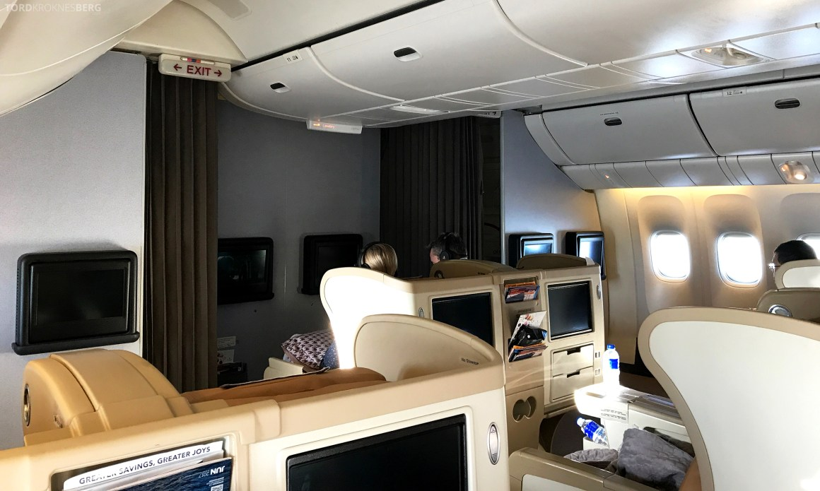 Singapore Airlines Business Class Canberra god morgen