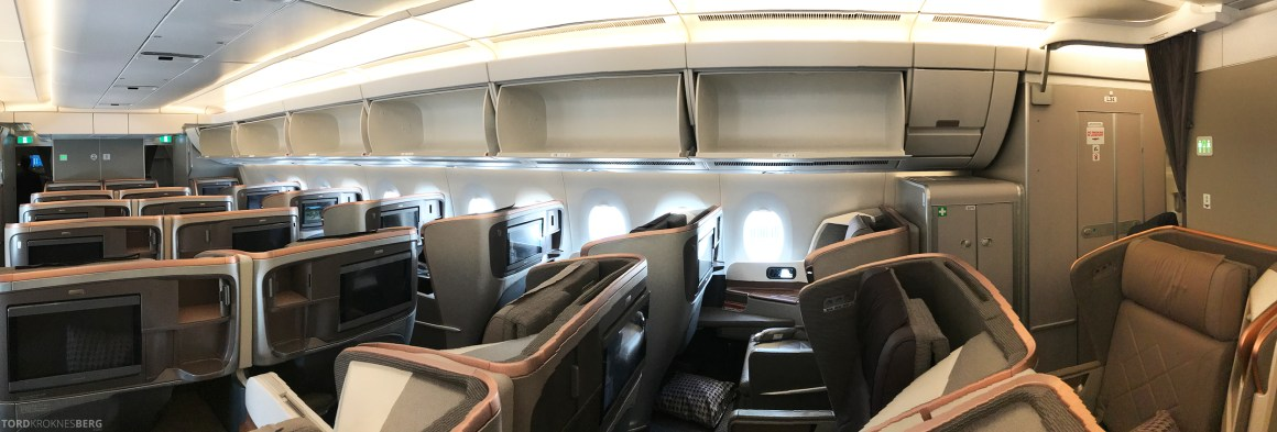 Singapore Airlines Business Class Stockholm Moskva kabin panorama