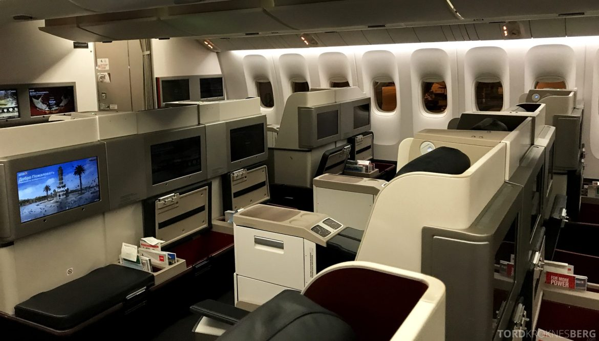 Turkish Airlines Business Class Istanbul Jakarta kabin
