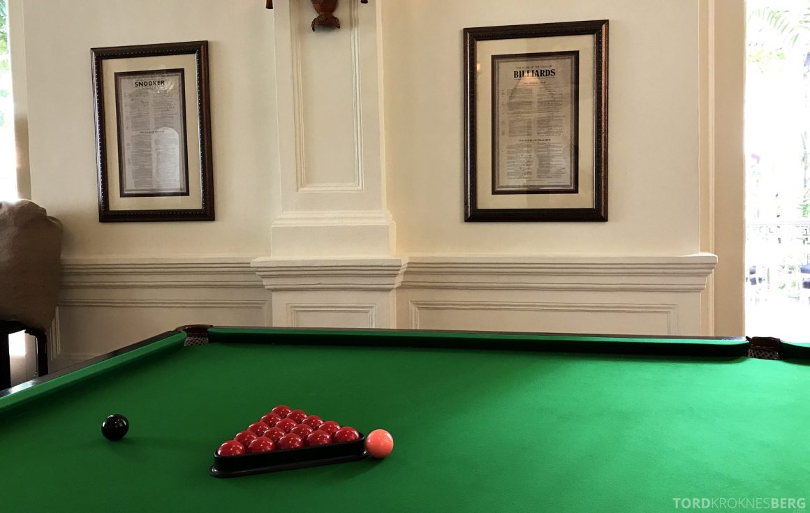 Raffles Hotel Singapore billiard room