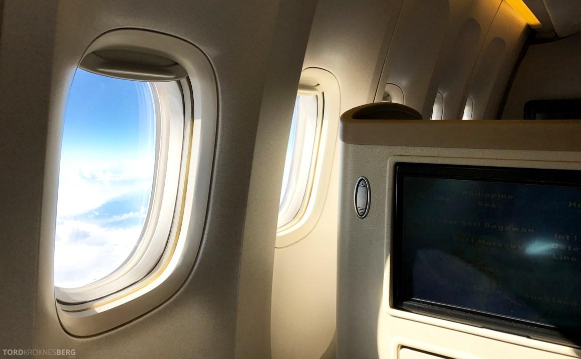 Singapore Airlines Business Class Canberra Wellington vindu